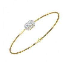 Natural Diamond Bracelets 0.42 CT / 3.50 gm Gold