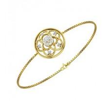 Natural Diamond Bracelets 0.18 CT / 6.00 gm Gold