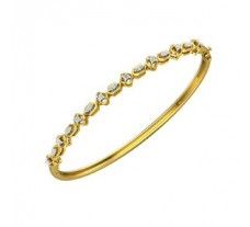 Natural Diamond Bracelets 0.34 CT / 10.00 gm Gold