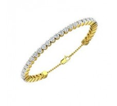 Natural Diamond Bracelet 2.52 CT / 20.04 gm Gold