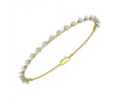 Natural Diamond Bracelets 0.95 CT / 06.50 gm Gold