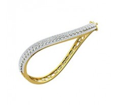 Natural Diamond Bracelets 3.10 CT / 17.00 gm Gold