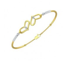 Natural Diamond Bracelets 0.38 CT / 6.00 gm Gold
