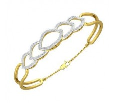 Natural Diamond Bracelets 0.88 CT / 10.29 gm Gold