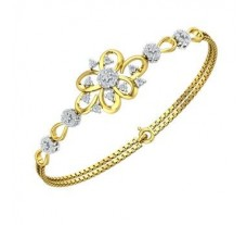 Natural Diamond Bracelets 0.82 CT / 5.80 gm Gold