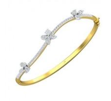 Natural Diamond Bracelets 0.95 CT / 11.00 gm Gold
