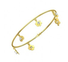 Natural Diamond Bracelets 0.39 CT / 5.21 gm Gold