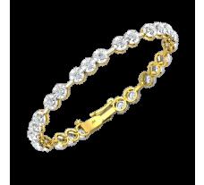 Natural Diamond Bracelets 2.50 CT / 11.50 gm Gold