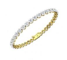 Natural Diamond Bracelets 2.52 CT / 12.14 gm Gold