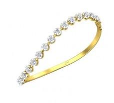 Natural Diamond Bracelets 1.20 CT / 12.30 gm Gold