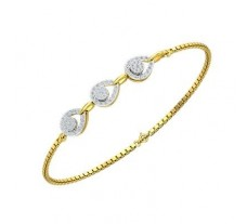 Natural Diamond Bracelets 0.51 CT / 3.50 gm Gold