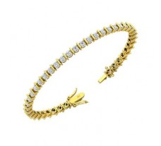 Natural Diamond Bracelets 1.64 CT / 13.50 gm Gold