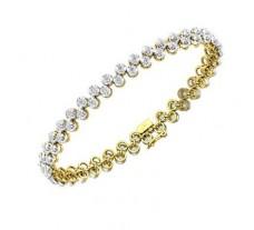 Diamond Bracelets 2.56 CT / 14.00 gm Gold