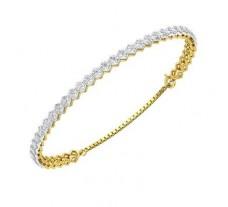 Natural Diamond Bracelets 0.71 CT / 5.89 gm Gold