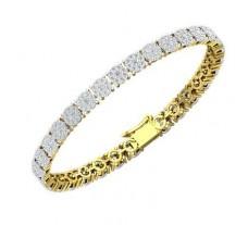 Natural Diamond Bracelets 3.60 CT / 14.23 gm Gold