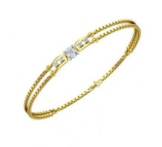 Natural Diamond Bracelets 0.24 CT / 4.49 gm Gold