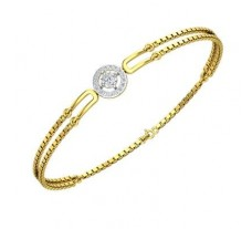 Natural Diamond Bracelets 0.25 CT / 5.51 gm Gold