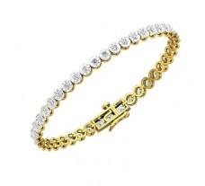 Natural Diamond Bracelets 4.10 CT / 11.01 gm Gold