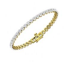Natural Diamond Bracelets 2.10 CT / 12.76 gm Gold