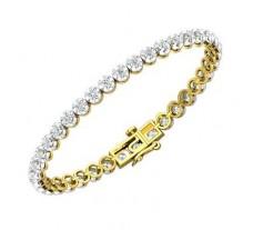 Natural Diamond Bracelets 2.96 CT / 14.49 gm Gold