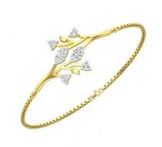 Natural Diamond Bracelets 0.36 CT / 5.36 gm Gold
