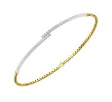 Natural Diamond Bracelets 0.61 CT / 3.80 gm Gold