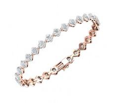 Natural Diamond Bracelets 4.06 CT / 17.70 gm Gold
