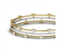 Natural Diamond Bangles 2.78 CT / 22.00 gm Gold