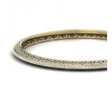 Natural Diamond Bangles 1.98 CT / 14.00 gm Gold