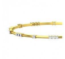 Natural Diamond Bangles 0.80 CT / 9.70 gm Gold