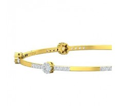 Natural Diamond Bangles 1.68 CT / 10.00 gm Gold