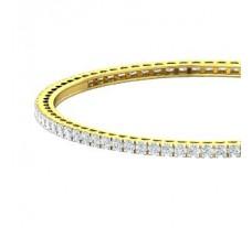 Natural Diamond Bangles 4.00 CT / 17.00 gm Gold