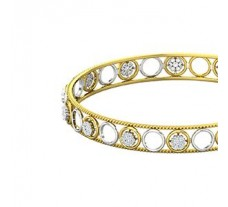 Natural Diamond Bangles 1.12 CT / 8.50  gm Gold