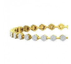 Natural Diamond Bangles 2.40 CT / 17.00 gm Gold