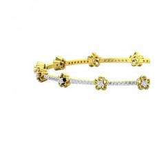 Natural Diamond Bangles 1.48 CT / 14.50 gm Gold