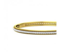 Natural Diamond Bangles 3.00 CT / 18.50 gm Gold