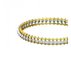 Natural Diamond Bangles 1.19 CT / 18.00  gm Gold