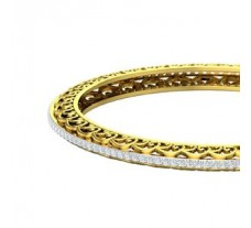 Natural Diamond Bangles 2.48 CT / 23.00 gm Gold