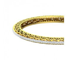 Natural Diamond Bangles 2.80 CT / 23.50 gm Gold