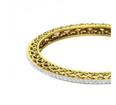 Natural Diamond Bangles 3.92 CT / 24.50 gm Gold