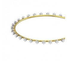 Natural Diamond Bangles 1.44 CT / 8.90  gm Gold