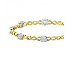 Natural Diamond Bangles 1.68 CT / 12.47  gm Gold