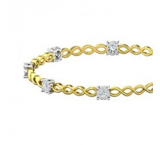Natural Diamond Bangles 1.20 CT / 11.83  gm Gold