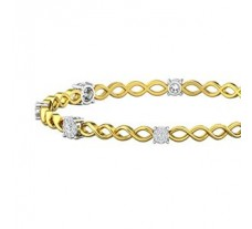 Natural Diamond Bangles 0.84 CT / 11.67  gm Gold
