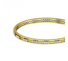 Natural Diamond Bangles 1.24 CT / 17.09  gm Gold