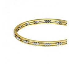 Natural Diamond Bangles 1.24 CT / 17.09  gm Gold