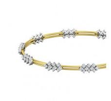 Natural Diamond Bangles 1.64 CT / 10.54  gm Gold