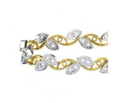 Natural Diamond Bangles 2.56 CT / 20.97  gm Gold