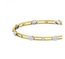 Natural Diamond Bangles 1.07 CT / 11.69  gm Gold