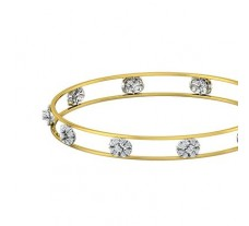 Natural Diamond Bangles 1.05 CT / 9.23  gm Gold